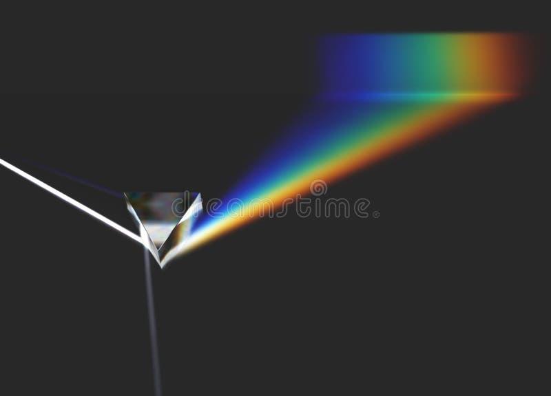 Optischer heller Strahl und Regenbogen des Prismas vektor abbildung