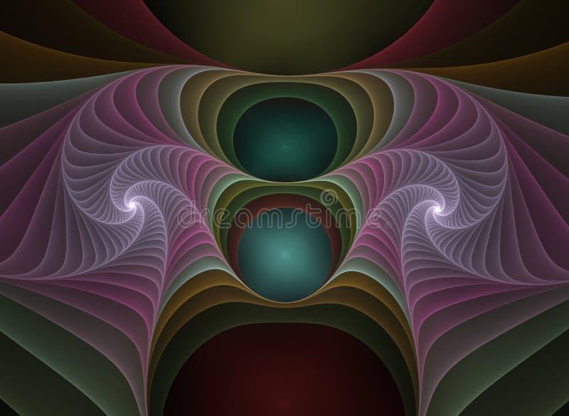 Optischer Kunst-PlastikFractal 04 A lizenzfreie abbildung