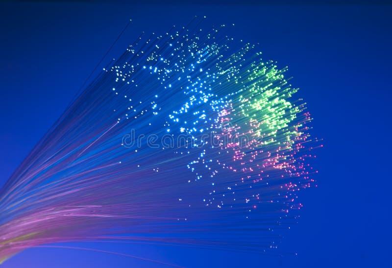 Optisches Bild der Faser mit Details und Licht stockbild