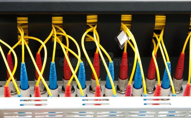 Optisches Netz der Faser stockfotos