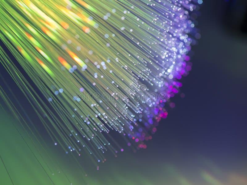 Optisk bakgrund för fiber royaltyfria bilder