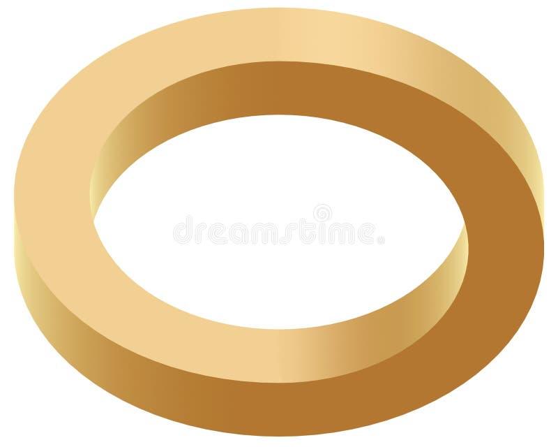 optisk cirkel för illustion royaltyfri illustrationer