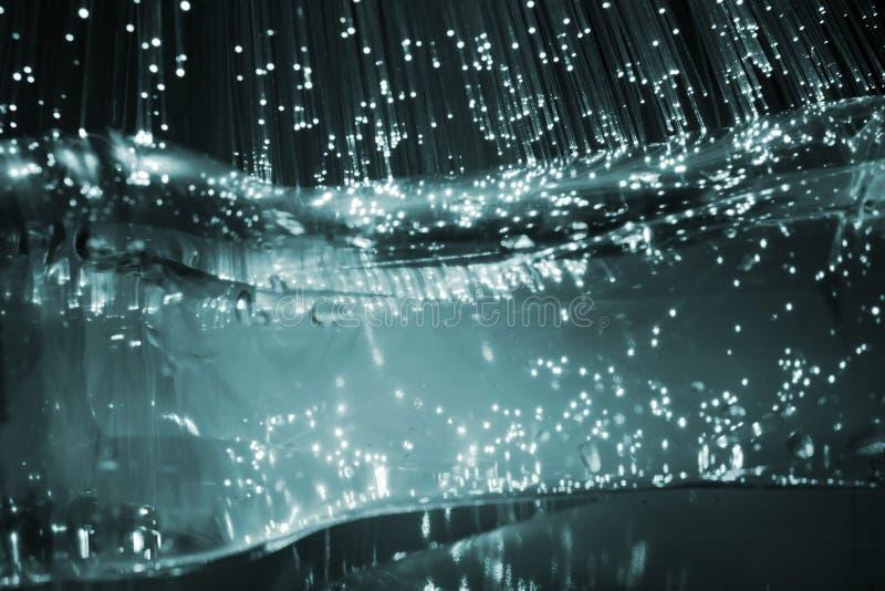 optisk fiber royaltyfria bilder