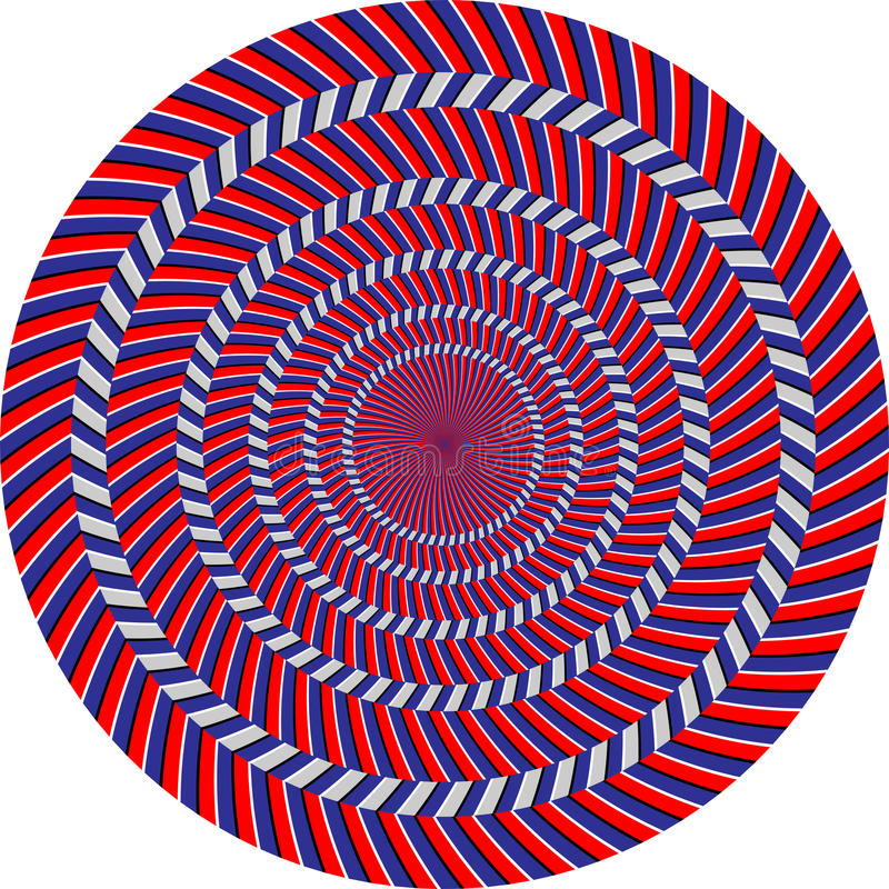optisk illusion vektor illustrationer