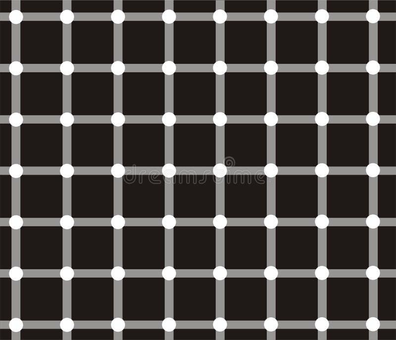 optisk illusion stock illustrationer