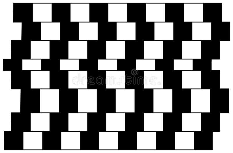 optisk illusion 2 royaltyfri illustrationer