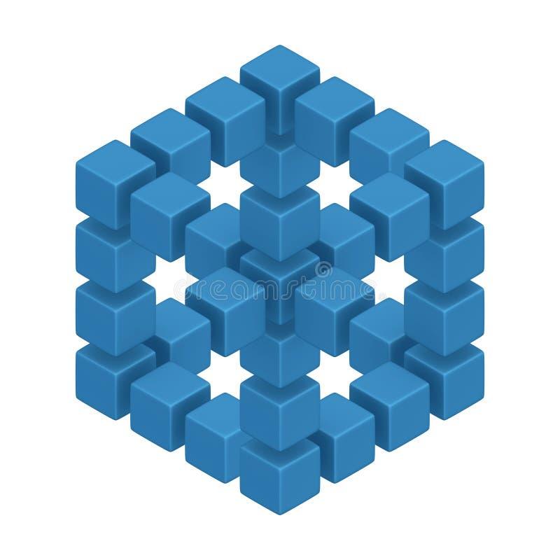 optisk illusion vektor illustrationer