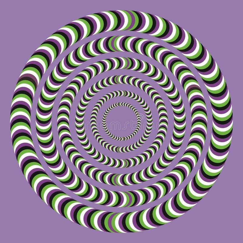 Optisk illusion, färgrika kvarter royaltyfri illustrationer