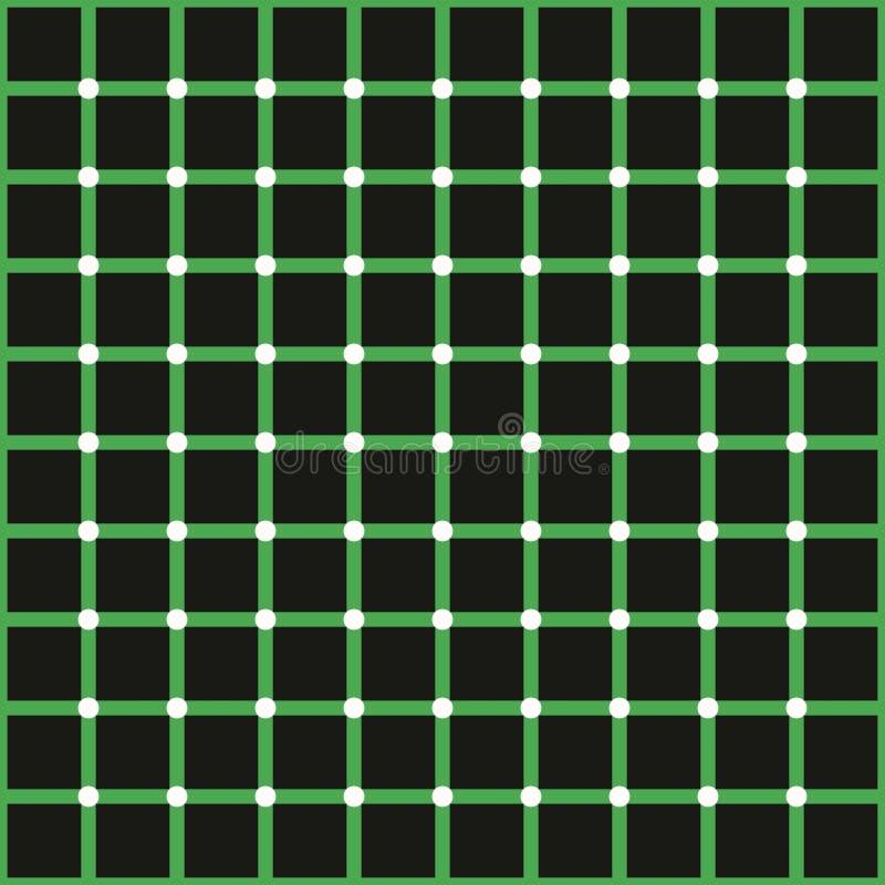 Optisk illusion, färgrika kvarter vektor illustrationer