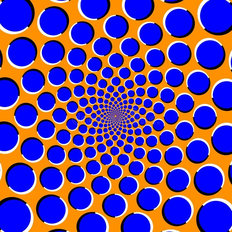 Optisk illusion med flyttningcirklar vektor illustrationer