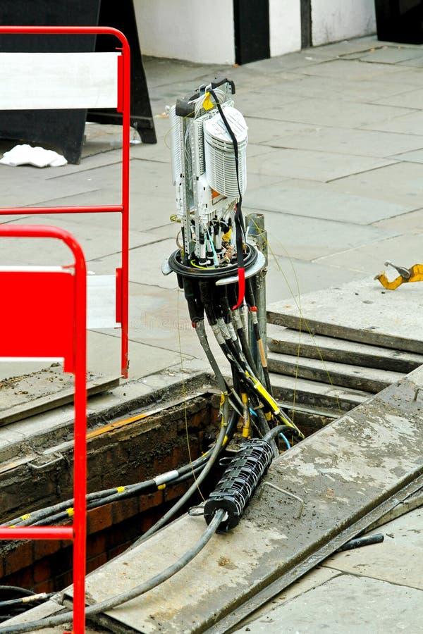 optisk kabelfiber - royaltyfria foton