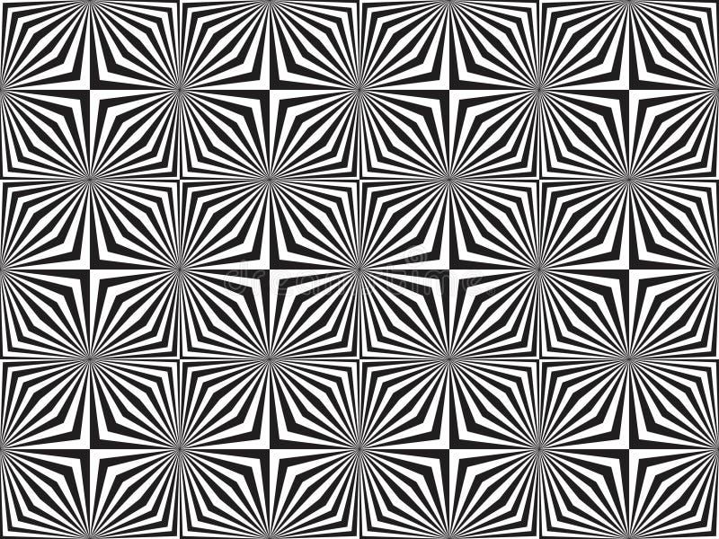 Optisk konst vektor illustrationer