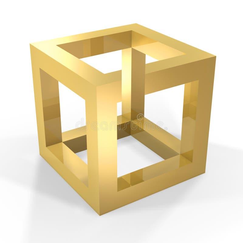 optisk kubillustion vektor illustrationer