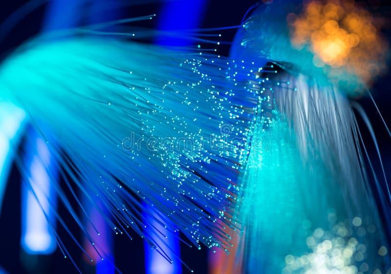 Optisk nätverkskabel för fiber arkivfoton