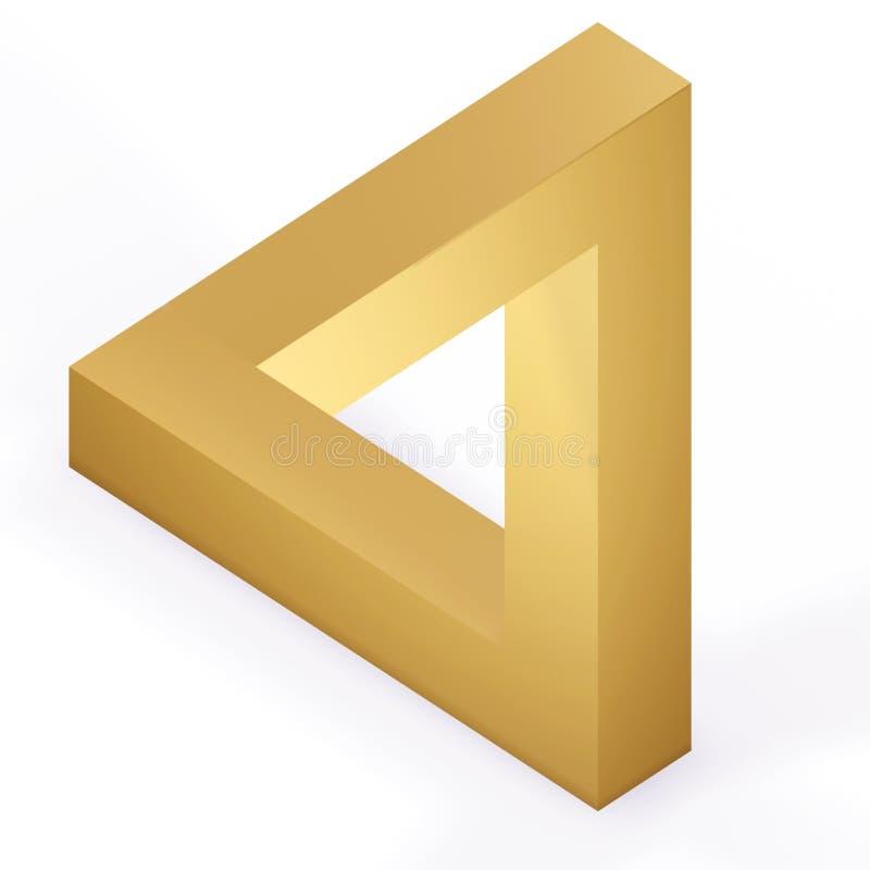 optisk triangel för illustion royaltyfri illustrationer