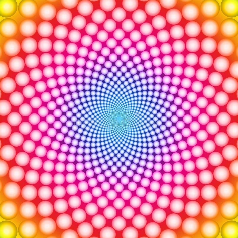 optisk vektor för illusion vektor illustrationer