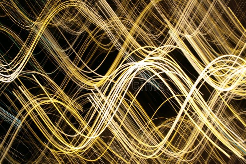 optiska ljusa linjer för fibrer royaltyfri bild