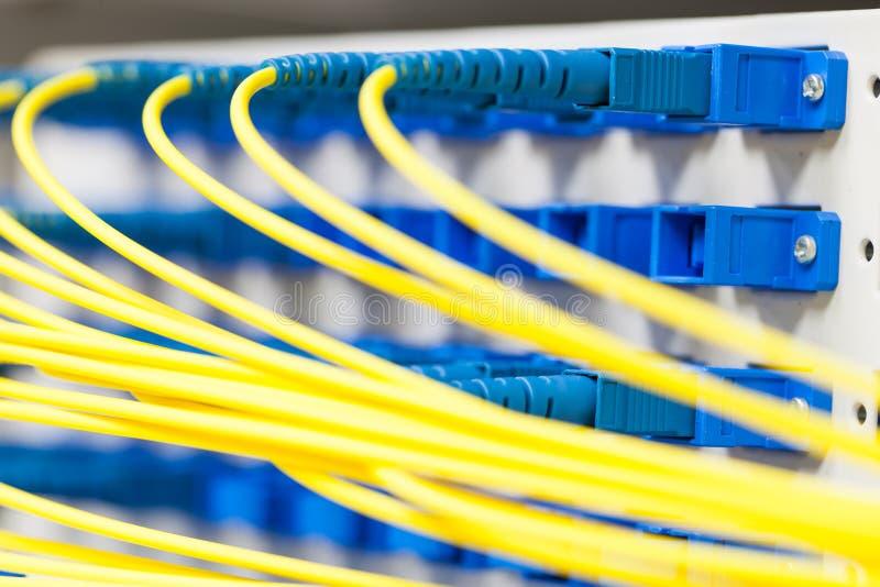 Optiskt för fiber i spliter royaltyfri foto