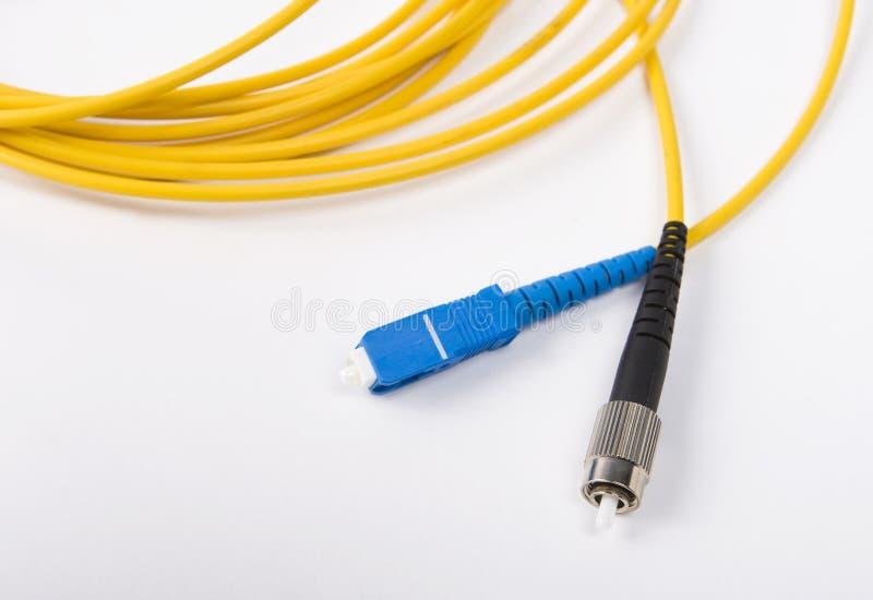 optiskt kabelfibernätverk royaltyfri fotografi