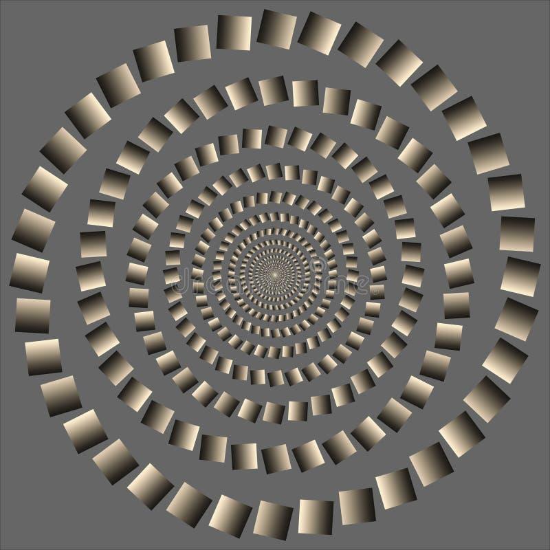 optiskt rotera cirkelför excenterillusion stock illustrationer