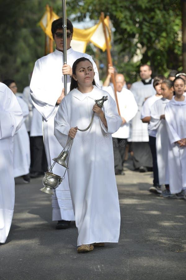Optocht van de Kerk São Francisco Xavier royalty-vrije stock fotografie