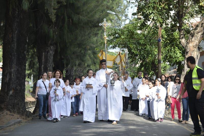 Optocht van de Kerk São Francisco Xavier royalty-vrije stock foto's