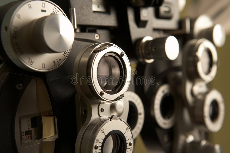 Optometria material fotos de stock