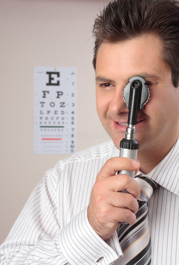Optometriker, Augendoktor lizenzfreie stockbilder