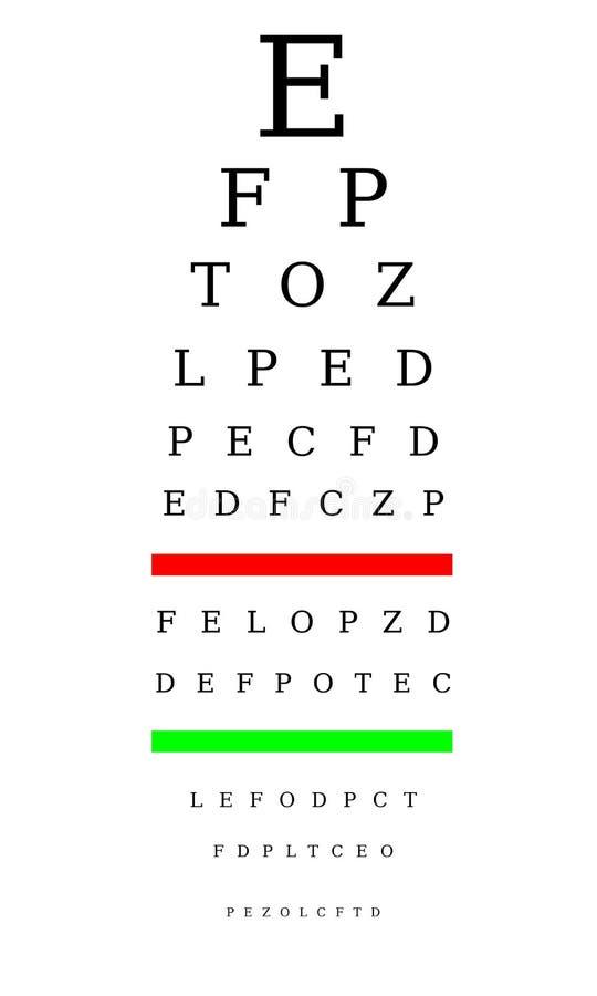 Optometrikerdiagramm stock abbildung