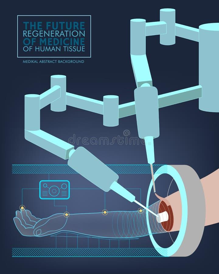 optometrist глаза диаграммы предпосылки медицинский Будущее хирургии вектор иллюстрация штока