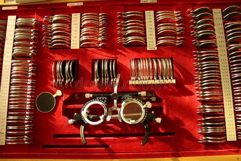 optometrist набора стоковое изображение