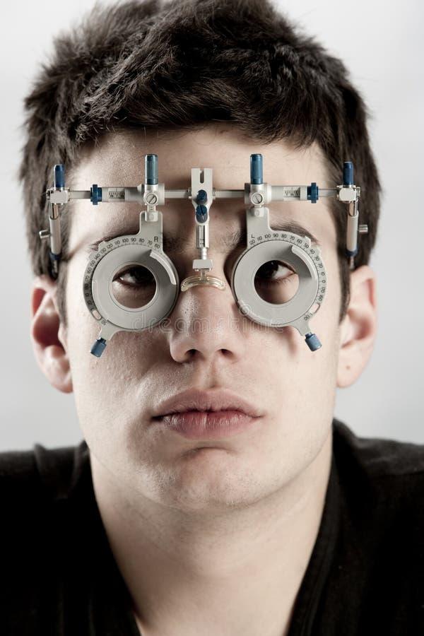 optometrist экзамена стоковое фото