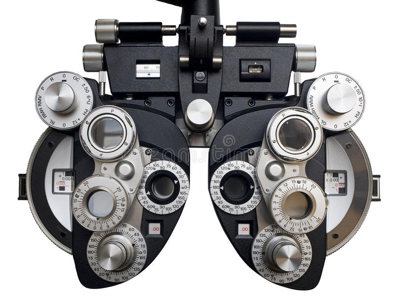 Optometrist diopter. royalty free stock photos