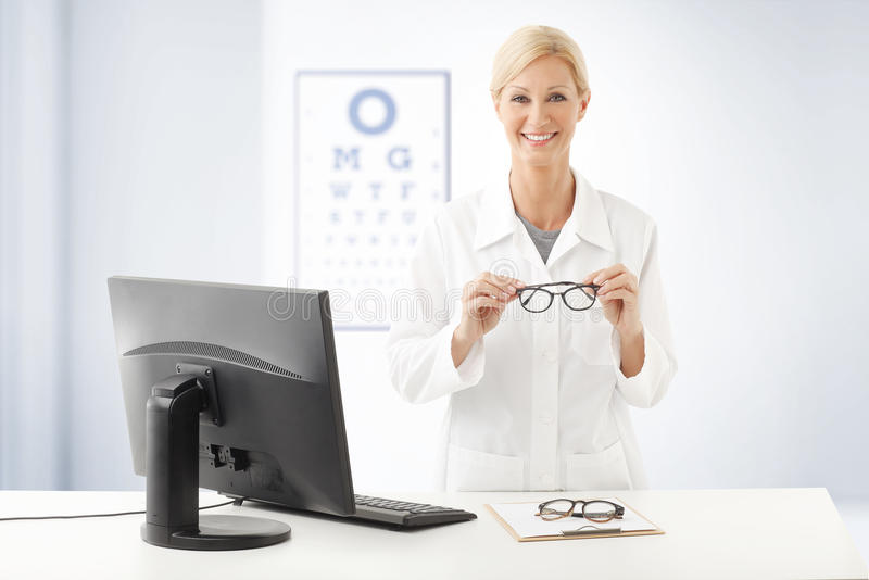Optometrist doctor portrait royalty free stock photography