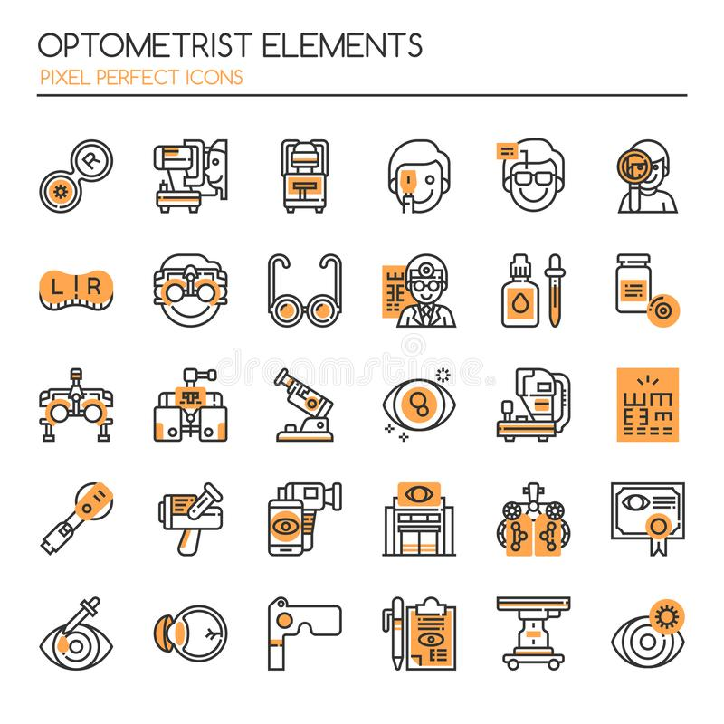 Optometrist Elements stock illustratie