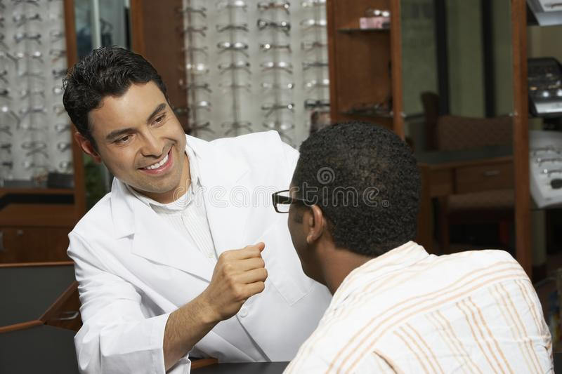 Download Optometrist Looking At Patient Stock Photo - Image: 29650504