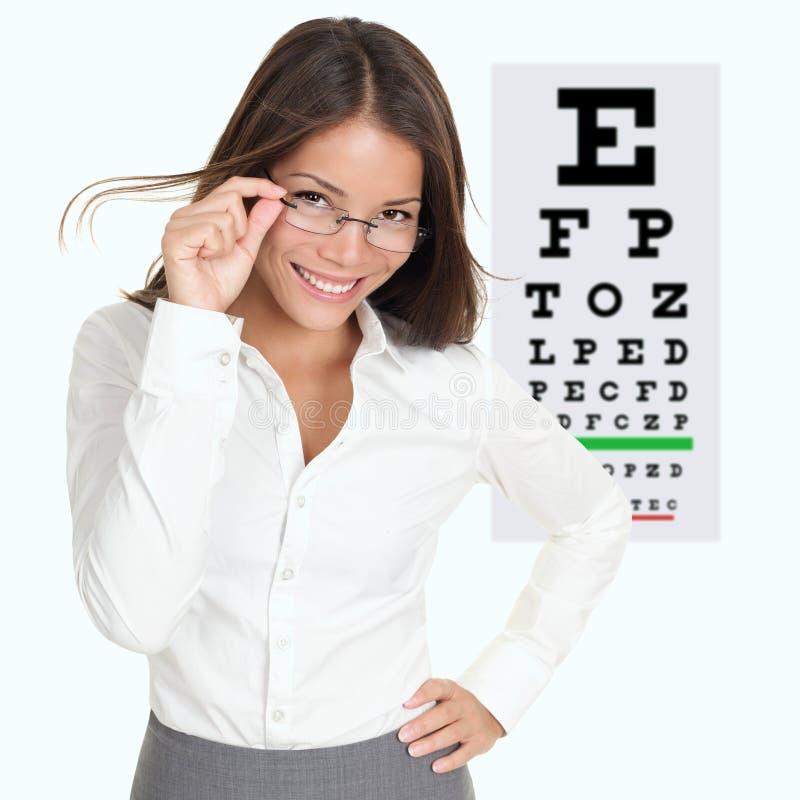 Optometrist / optician royalty free stock images