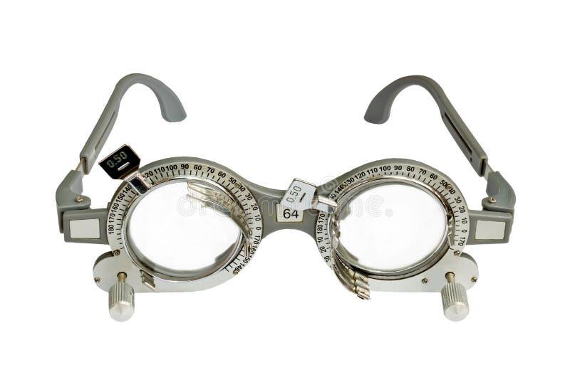 Optometrist próby rama na białym tle zdjęcie royalty free