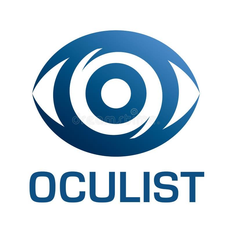 Optometrista di logo di vettore, ottica e controllo di visione royalty illustrazione gratis