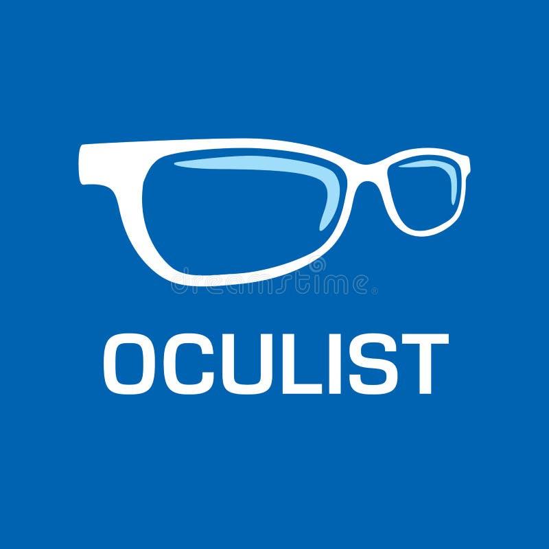 Optometrista di logo di vettore, ottica e controllo di visione illustrazione di stock