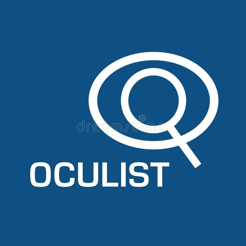Optometrista di logo di vettore, ottica e controllo di visione illustrazione vettoriale
