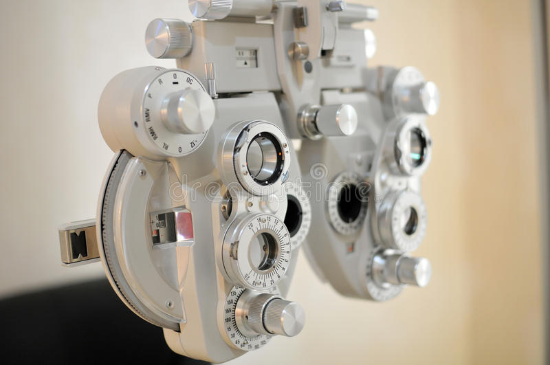 Materiell optometry royaltyfri foto