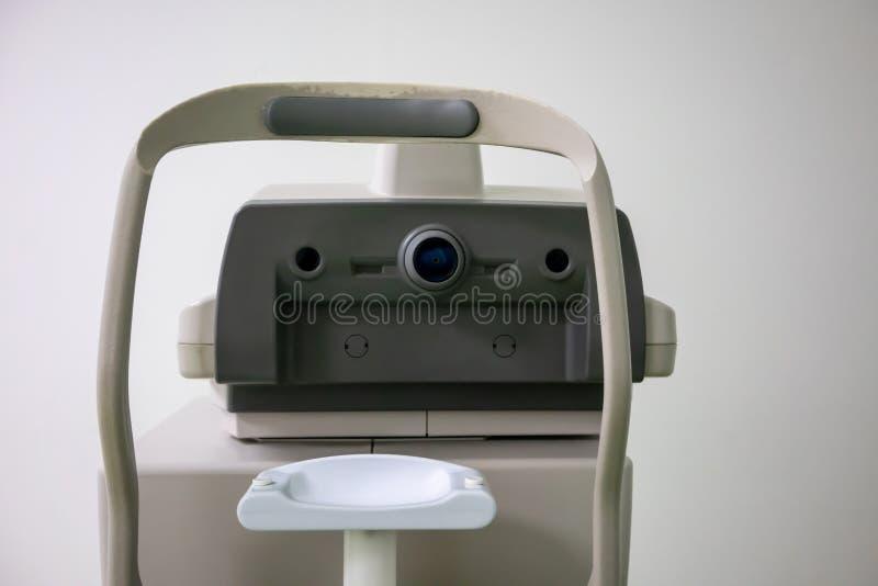 Optometry maszyna, Phoropter dla rogówkowego terenoznawstwa, Rogówkowy exa obrazy royalty free