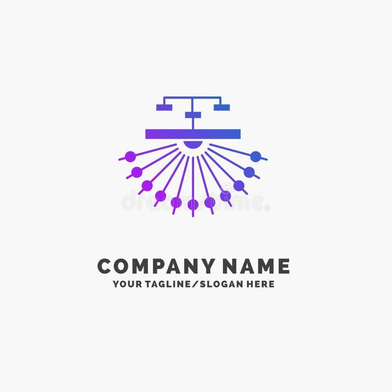 optymalizacja, miejsce, miejsce, struktura, sie? logo Purpurowy Biznesowy szablon Miejsce dla Tagline royalty ilustracja
