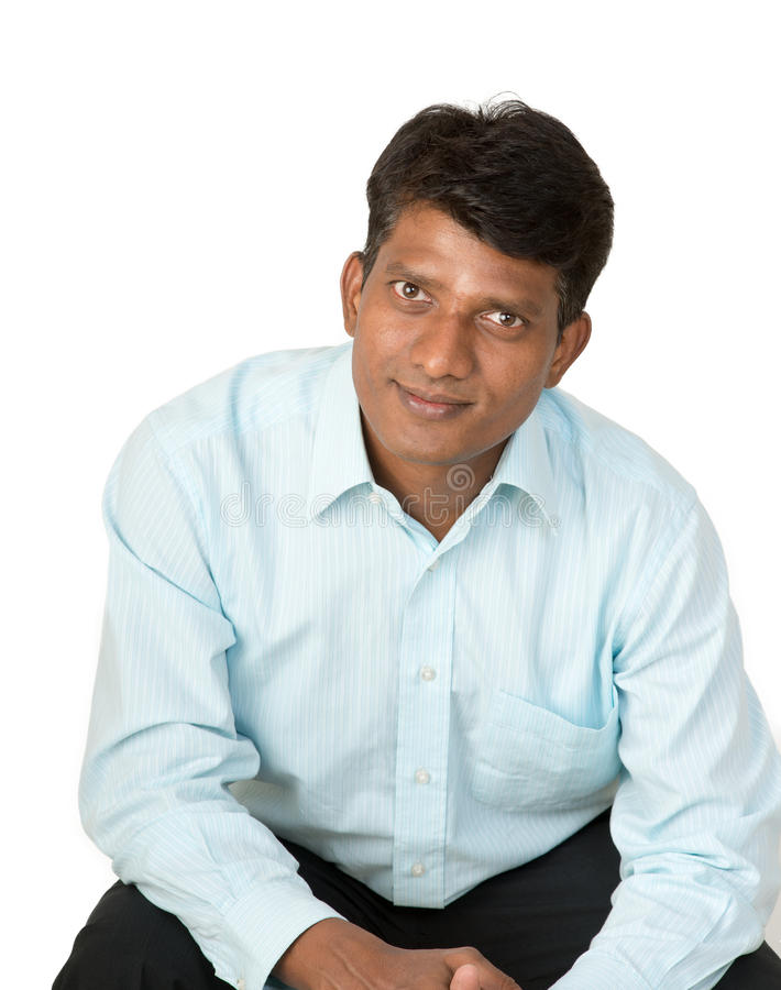 Optymistycznie Indiański mężczyzna zdjęcia stock
