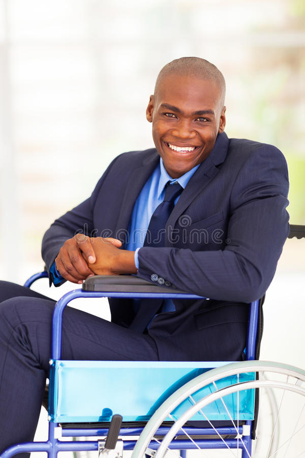 Optymistycznie niepełnosprawny biznesmen fotografia royalty free