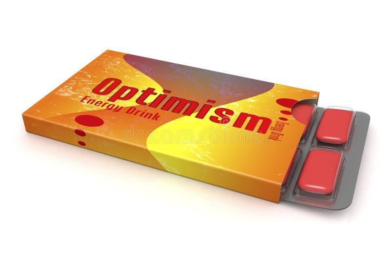 Optymizm kapsuły i medycyna ilustracja wektor