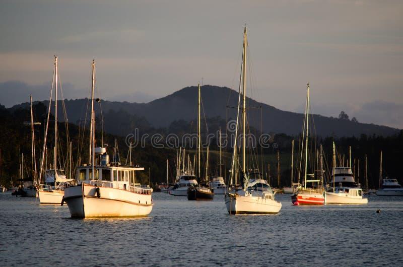 Opua marina at the Bay of Islands New Zealand stock photography