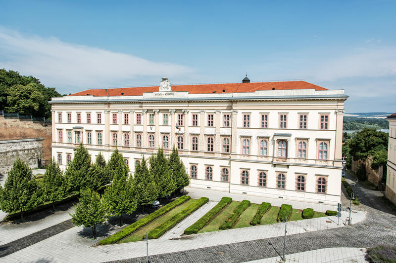 Opulent architecture in Esztergom, Hungary. Architectural theme. Historic building royalty free stock images