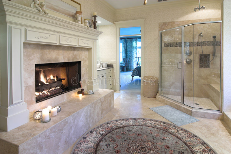 Opulent bathroom royalty free stock images